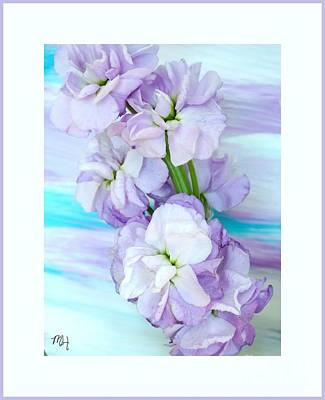 Art Print featuring the mixed media Fluffy Flowers by Marsha Heiken
