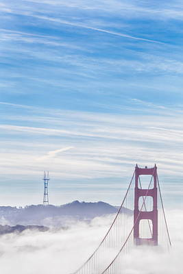 Photograph - Fluffy Gate Bridge by Digiblocks Photography