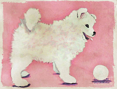 Fluffy Pup Art Print