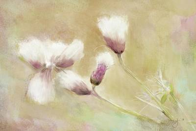 Painting - Fluffy Thistle by Mandy Tabatt
