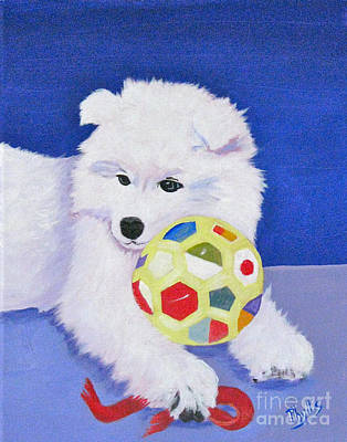 Painting - Fluffy's Portrait by Phyllis Kaltenbach