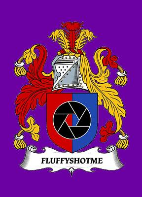 Photograph - Fluffyshotme Logo by David Morefield
