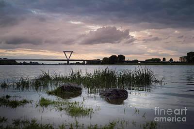 Photograph - Flughafenbruecke Am Rhein by Giovanni Malfitano