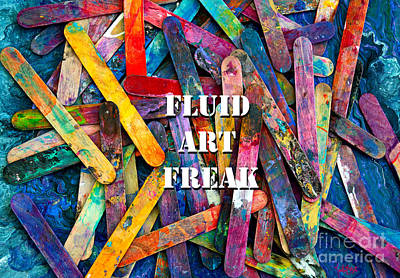 Painting - Fluid Art Freak by Expressionistart studio Priscilla Batzell
