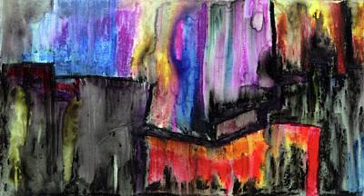 Mystifying Painting - Fluid Blue Freedom  by R Kyllo