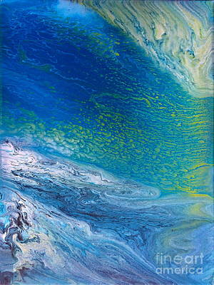 Painting - Fluid Blues by Lon Chaffin