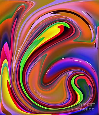 Fluid Colour Art Print by Robert Burns