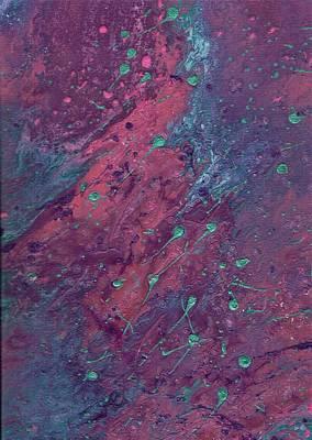 Galaxy Fusion Painting - Fluid Flow 27 by Meegan Sullivan