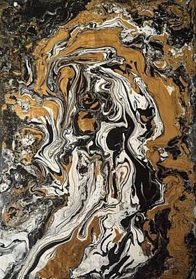 Interpretive Portraiture Painting - Fluid Gold by Robert Chambers