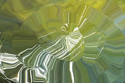 Photograph - Fluid Green Spiral by Yulia Kazansky