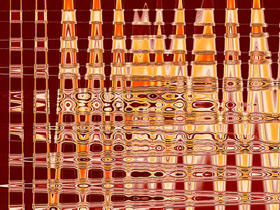 Digital Art - Fluid Vibration - Red by Shawna Rowe