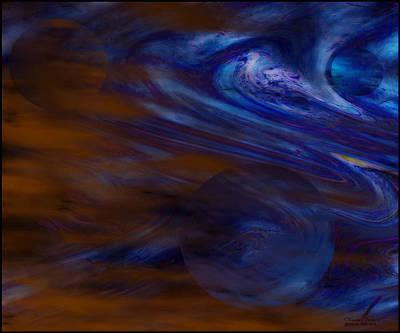 Fluidic Space Art Print
