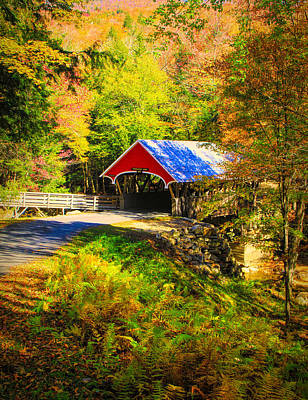 Photograph - Flume Covered Bridge by Dan Sproul