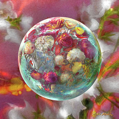 Digital Art - Fluorescent Dream Orb by Robin Moline