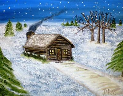 Painting - Flurries In Alpena by Debbie