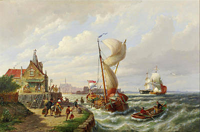 Painting - Flushing, Holland by Pieter Christian Dommersen