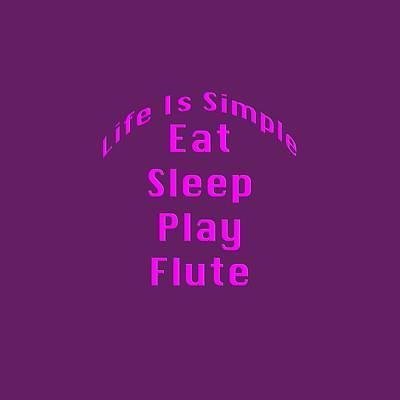 Flute Photograph - Flute Eat Sleep Play Flute 5510.02 by M K  Miller