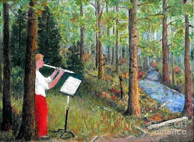 Painting - Flute Player by Al Hunter
