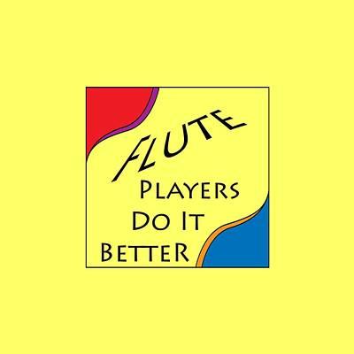 Photograph - Flute Players Do It Better 5638.02 by M K Miller
