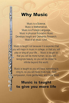 Photograph - Flute Why Music Photographs Or Pictures For T-shirts 4823.02 by M K  Miller
