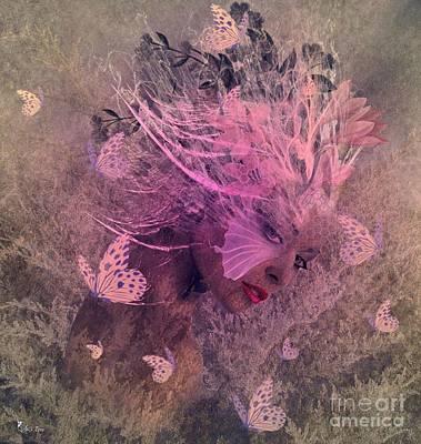 Digital Art - Flutter Me Pink by Ali Oppy