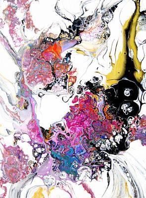 Painting - Flutterby Flower #2204 by Expressionistart studio Priscilla Batzell