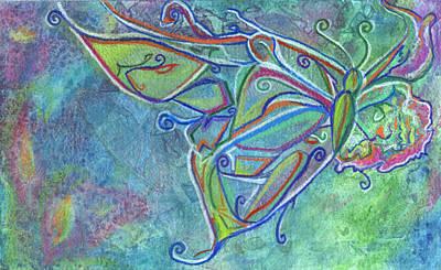 Flutterby Art Print by Sarah Crumpler