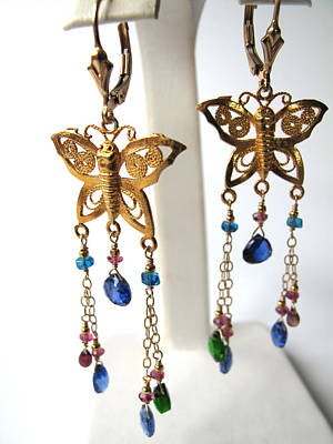 Adove Jewelry - Flutterbys With Gemstone Tendrils by Adove  Fine Jewelry
