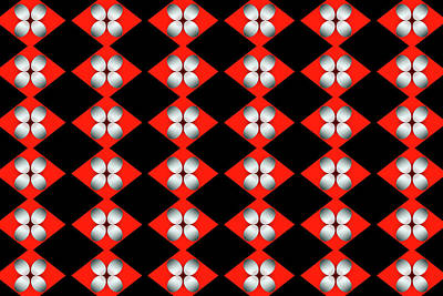 Digital Art - Fluttered Checkerboard Trash by Michelle McPhillips