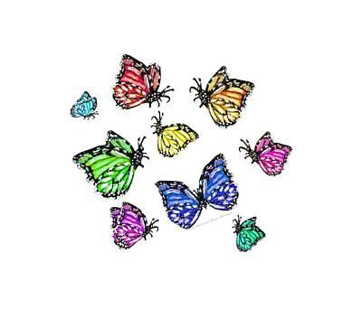 Fluttering Digital Art - Flutters by Shana Rowe Jackson