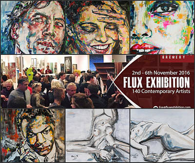 Invitations Mixed Media - Flux Exhibition In London by Christel Roelandt