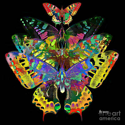Digital Art - Fly Away 2017 by Kathryn Strick