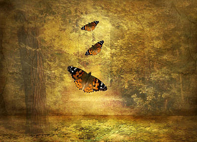 Golden Digital Art - Fly Away by Jessica Jenney