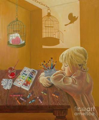 Cage Painting - Fly Away by Shauna Eggleston