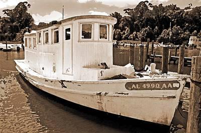 Fly Creek Work Boat Art Print by Michael Thomas