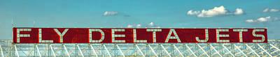 Photograph - Fly Deltet Jet Signage Hartsfield Jackson International Airport Art Atlanta, Georgia Art by Reid Callaway