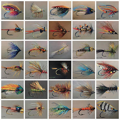 Fishing Flies Painting - Fly Fishing - 30 In 30 by Cindy Gillett