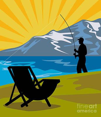 Fly Fishing Art Print by Aloysius Patrimonio