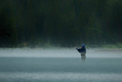 Digital Art - Fly Fishing Day by Chris LeBoutillier