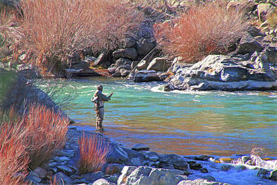 Photograph - Fly Fishing by Donna Kennedy