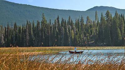 Fly Fishing Hosmer Lake Larry Darnell Art Print by Larry Darnell