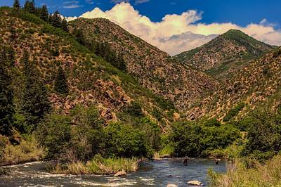 Colorado Fly Fishing River Wall Art - Photograph - Fly Fishing In The South Platte River by Mountain Dreams