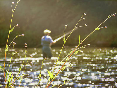 Photograph - Fly Fishing by JAMART Photography
