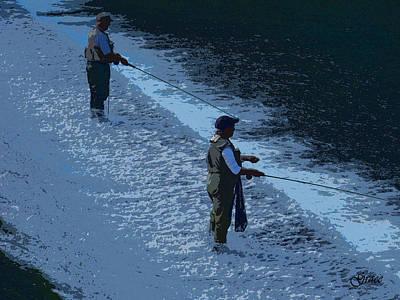 Fly Fishing Art Print by Julie Grace