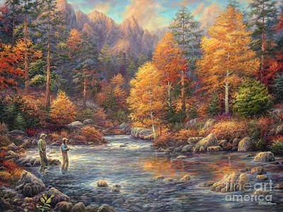 River Wall Art - Painting - Fly Fishing Legacy by Chuck Pinson