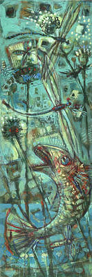 Fly Fishing Art Print by Nato  Gomes