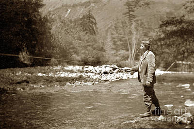 Photograph - Fly Fishing On The Big Sur River For Trout by California Views Archives Mr Pat Hathaway Archives