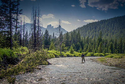 Photograph - Fly Fishing The Oldman by Philip Rispin