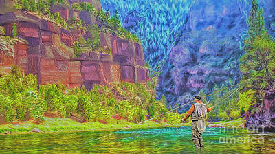 Photograph - Fly Fishing by Walter Colvin