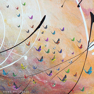 Mixed Media - Fly Fly Pretty Wings by Kume Bryant